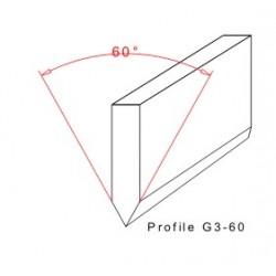 Rakegummi 2000-40-8 Profil G3-60