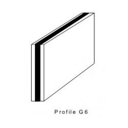 Rakelgummi 8000-40-8 Form G6 Triplo