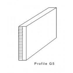 Rakelgumm 7000-50-10 Form G5 Duplo